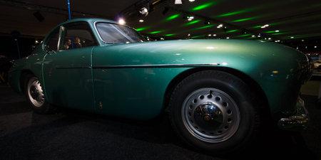 MAASTRICHT, NETHERLANDS - JANUARY 08, 2015: British luxury car Bristol 404 Coupe. International Exhibition InterClassics & Topmobiel 2015 Editorial