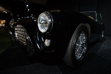 ac: MAASTRICHT, NETHERLANDS - JANUARY 08, 2015: Roadster AC Ace, 1958. International Exhibition InterClassics & Topmobiel 2015