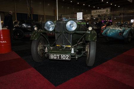 av: MAASTRICHT, NETHERLANDS - JANUARY 08, 2015: Sports car Talbot AV 95105 Brooklands Speed Special, 1934. International Exhibition InterClassics & Topmobiel 2015
