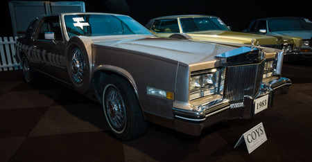 eldorado: MAASTRICHT, NETHERLANDS - JANUARY 08, 2015: Full-size personal luxury car Cadillac Eldorado Paris, 1983. International Exhibition InterClassics & Topmobiel 2015