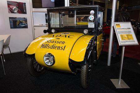 ps: MAASTRICHT, NETHERLANDS - JANUARY 09, 2015: A compact car Hanomag 210 PS (Kommissbrot), 1927. International Exhibition InterClassics & Topmobiel 2015
