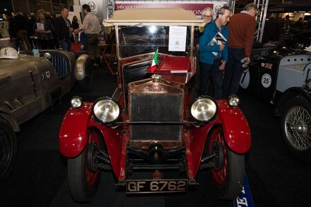 MAASTRICHT, NETHERLANDS - JANUARY 09, 2015: Oldtimer Fiat 509 Tourer, 1926. International Exhibition InterClassics & Topmobiel 2015