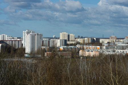 marzahn: BERLIN - FEBRUARY 08, 2015: Multi-storey house residential area of Berlin - Marzahn. Editorial