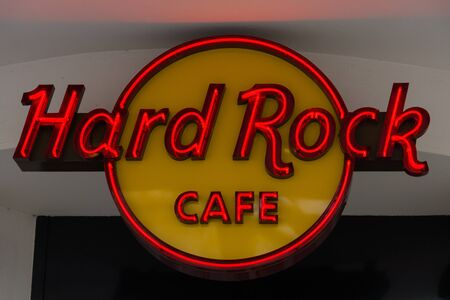 hard rock cafe: BERLIN - FEBRUARY 22, 2015: Hard Rock Cafe. Hard Rock Cafe International, Inc. is a chain of theme restaurants, there are 191 locations in 59 countries including 145 cafes, 21 hotels and 10 casinos.