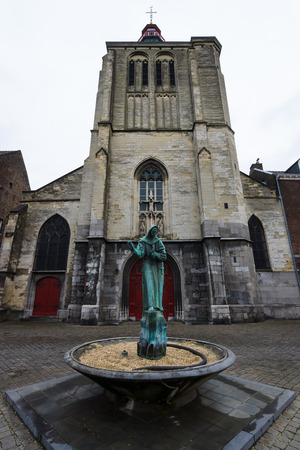 limburg: MAASTRICHT, NETHERLANDS - JANUARY 09, 2015: The Gothic church of Saint Matthias. Maastricht is the oldest city of the Netherlands and the capital city of the province of Limburg. Editorial