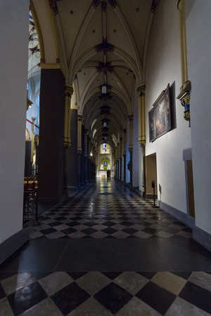 oldest: MAASTRICHT, NETHERLANDS - JANUARY 09, 2015: Interior of Basilica of St. Servatius. The Basilica of St. Servatius is a oldest Roman catholic church the Netherlands. Editorial