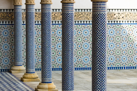 architectural feature: Beautiful columns in oriental style. Background.