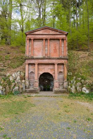 aquifer: The Spring of St. Elizabeth of Hungary (Elisabethbrunnen) in the suburb of Marburg district Schroeck. Built in 1596.