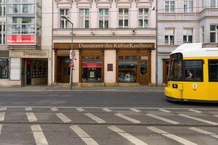 BERLIN - MAY 02, 2015: The largest bookstore in Berlin - Dussmann (Dussmann das KulturKaufhaus). Publikacyjne
