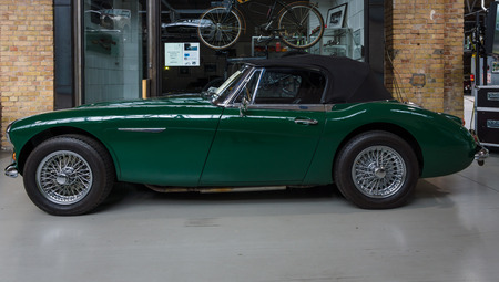 roadster: BERLIN - MAY 10, 2015: The roadster Austin-Healey 3000 Mk 3. The 28th Berlin-Brandenburg Oldtimer Day