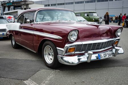 bel air: BERLIN - MAY 10, 2015: Full-size car Chevrolet Bel Air (Second generation). 28th Berlin-Brandenburg Oldtimer Day
