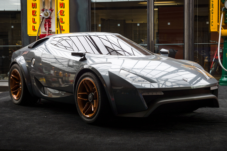 BERLIN - MAY 10, 2015: Concept car Lancia New Stratos by Fenomenon, designed by Christian Hrabalec, 2005. The 28th Berlin-Brandenburg Oldtimer Day Editorial