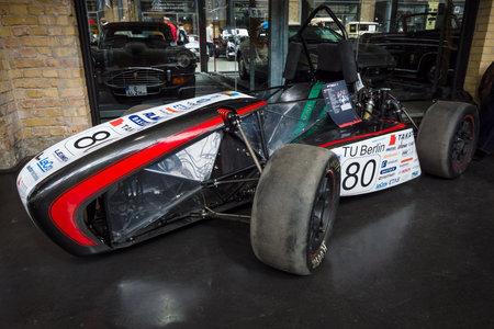 technical university: BERLIN - MAY 10, 2015: Racing car Formula Student Team FT2011 by Technical University of Berlin. 28th Berlin-Brandenburg Oldtimer Day Editorial