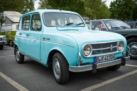 BERLIN - MAY 10, 2015: Economy car Renault 4. The 28th Berlin-Brandenburg Oldtimer Day Editorial