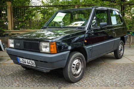 fiat: BERLIN - MAY 10, 2015: City car Fiat Panda 45 (Tipo 141), 1983. The 28th Berlin-Brandenburg Oldtimer Day