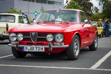 alfa: BERLIN - MAY 10, 2015: Sports car Alfa Romeo 2000 GT Veloce (GTV). 28th Berlin-Brandenburg Oldtimer Day