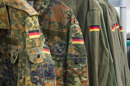 Detail of military uniform soldiers in Germany. Standard-Bild