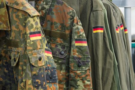 Detail of military uniform soldiers in Germany. Stock Photo