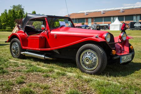 roadster: PAAREN IM GLIEN, GERMANY - MAY 23, 2015: Roadster Marlin, is based around Triumph Herald components, 1965. The oldtimer show in MAFZ.