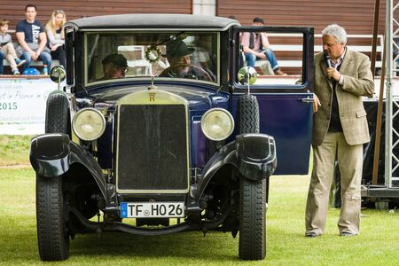 PAAREN IM GLIEN, GERMANY - MAY 23, 2015: Vintage car Horch 8 Typ 303. The oldtimer show in MAFZ.