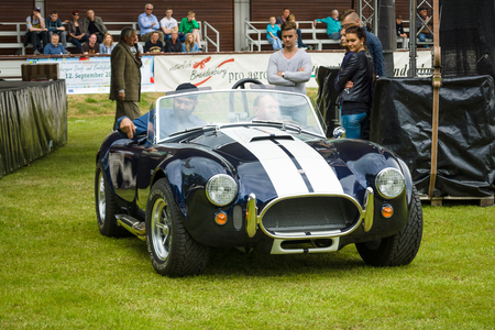 ac: PAAREN IM GLIEN, GERMANY - MAY 23, 2015: Vintage car Ford  Shelby AC Cobra. The oldtimer show in MAFZ. Editorial