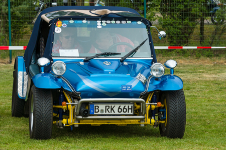 custom car: PAAREN IM GLIEN, GERMANY - MAY 23, 2015: Custom car Pesto Buggy on the basis of VW Beetle, 1974. The oldtimer show in MAFZ. Editorial
