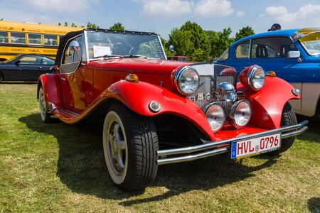 roadster: PAAREN IM GLIEN, GERMANY - MAY 23, 2015: Roadster JBA Falcon, 1977. The oldtimer show in MAFZ.