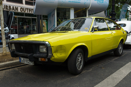 tl: BERLIN - JUNE 14, 2015: Mid-size sports car Renault 15 TL, 1974. The Classic Days on Kurfuerstendamm.
