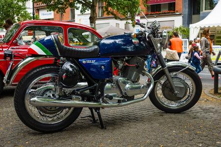 sf: BERLIN - JUNE 14, 2015: Motorbike Laverda 750 SF. The Classic Days on Kurfuerstendamm. Editorial