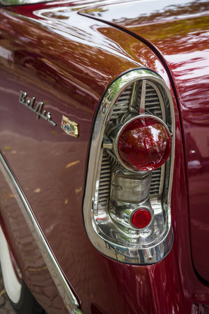 bel air: BERLIN - JUNE 14, 2015: Stoplight of a full-size car Chevrolet Bel Air (Second generation), 1956. The Classic Days on Kurfuerstendamm. Editorial