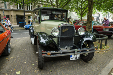 51: BERLIN - JUNE 14, 2015: Vintage car Erskine (Studebaker) Model 51 Sedan, 1928. The Classic Days on Kurfuerstendamm.
