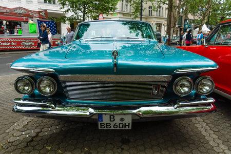 custom car: BERLIN - JUNE 14, 2015: Luxury car Imperial Custom 4-door Southampton, 1961. The Classic Days on Kurfuerstendamm.