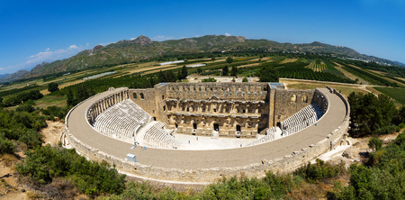 The Roman ancient theater in Aspendos. Standard-Bild