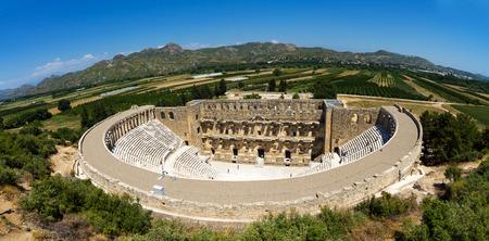 The Roman ancient theater in Aspendos. Archivio Fotografico