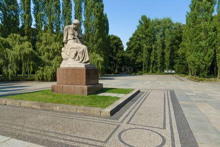 treptow: The Soviet War Memorial in Treptow Park. Sculpture of Motherland. Berlin. Stock Photo