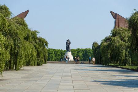 treptow: The Soviet War Memorial in Treptow Park. Berlin. Stock Photo