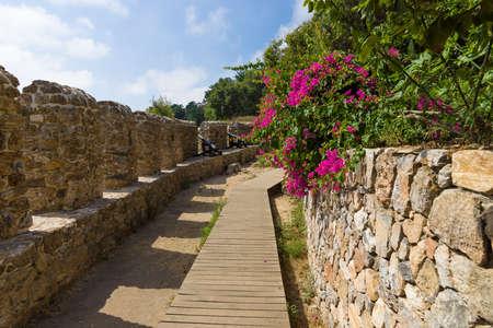 alanya: The fortress wall. Alanya Castle. Turkey.