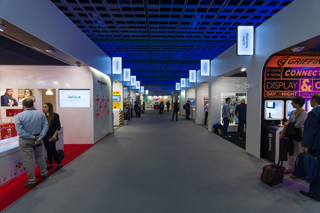 BERLIN - SEPTEMBER 04, 2015: In the pavilions of the exhibition. International radio exhibition Berlin (IFA)