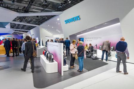 BERLIN - SEPTEMBER 04, 2015: Stand by Siemens. International radio exhibition Berlin (IFA2015).