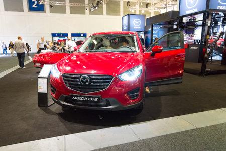 crossover: BERLIN - SEPTEMBER 04, 2015: The crossover Mazda CX-5 AWD. International radio exhibition Berlin (IFA2015).