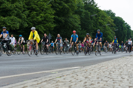 BERLIN, GERMANY - JUNE 14, 2015: Under the slogan More space for bicycles and Bike Berlin - now! , held a cycling marathon. Sajtókép