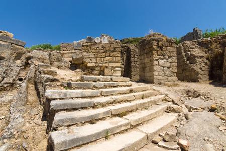 past civilization: Ancient ruins of Perge. The Nymphaeum. Turkey