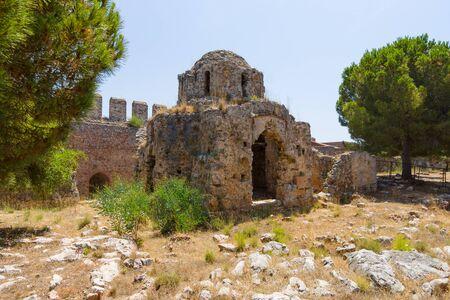 seljuk: Ruins of the Church of St. George, the Byzantine era. Alanya Castle. Turkey