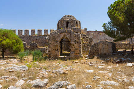 Ruins of the Church of St. George, the Byzantine era. Alanya Castle. Turkey