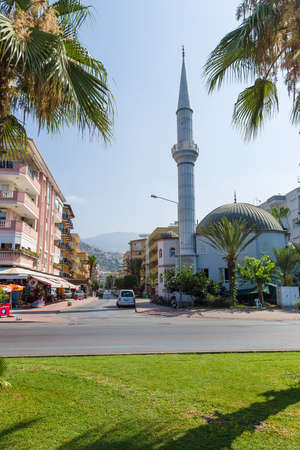 alanya: ALANYA, TURKEY - JULY 09, 2015: The building of the mosque. Alanya - a popular holiday destination for European tourists.
