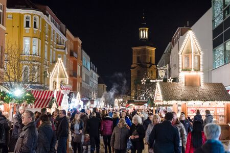 spandau: BERLIN - DECEMBER 08, 2015: The traditional Christmas market in the Old Spandau.