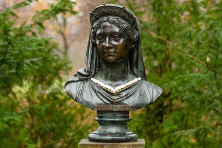 sculptor: Statue of Louise of Mecklenburg-Strelitz by sculptor Christian Daniel Rauch (1811) in the park of Charlottenburg, Berlin.