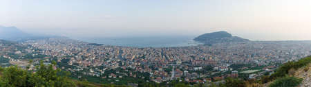 alanya: Panoramic view of twilight Alanya. Turkey.