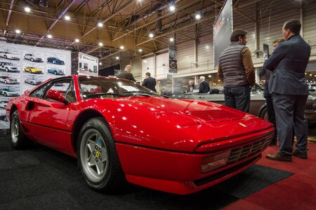 turbo: MAASTRICHT, NETHERLANDS - JANUARY 14, 2016: Sports car Ferrari GTB Turbo, 1987. International Exhibition InterClassics & Topmobiel 2016 Editorial