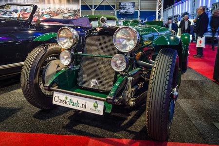 sg: MAASTRICHT, NETHERLANDS - JANUARY 14, 2016: Retro car Alvis Silver Eagle SG 16.95, 1938. International Exhibition InterClassics & Topmobiel 2016